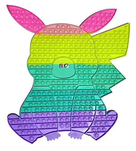 Amazzonia Pop it Pikachu 50 Cm con Dadi Gigantesco Antistress Fidget Toy Push Giocattolo Arcobaleno Giochi Autismo