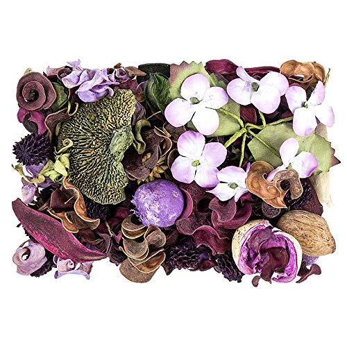 Edel-Potpourri | Deko-Set | 200 g | verschiedene duftende Blüten, Zweige, Deko-Elemente (Lavendel)