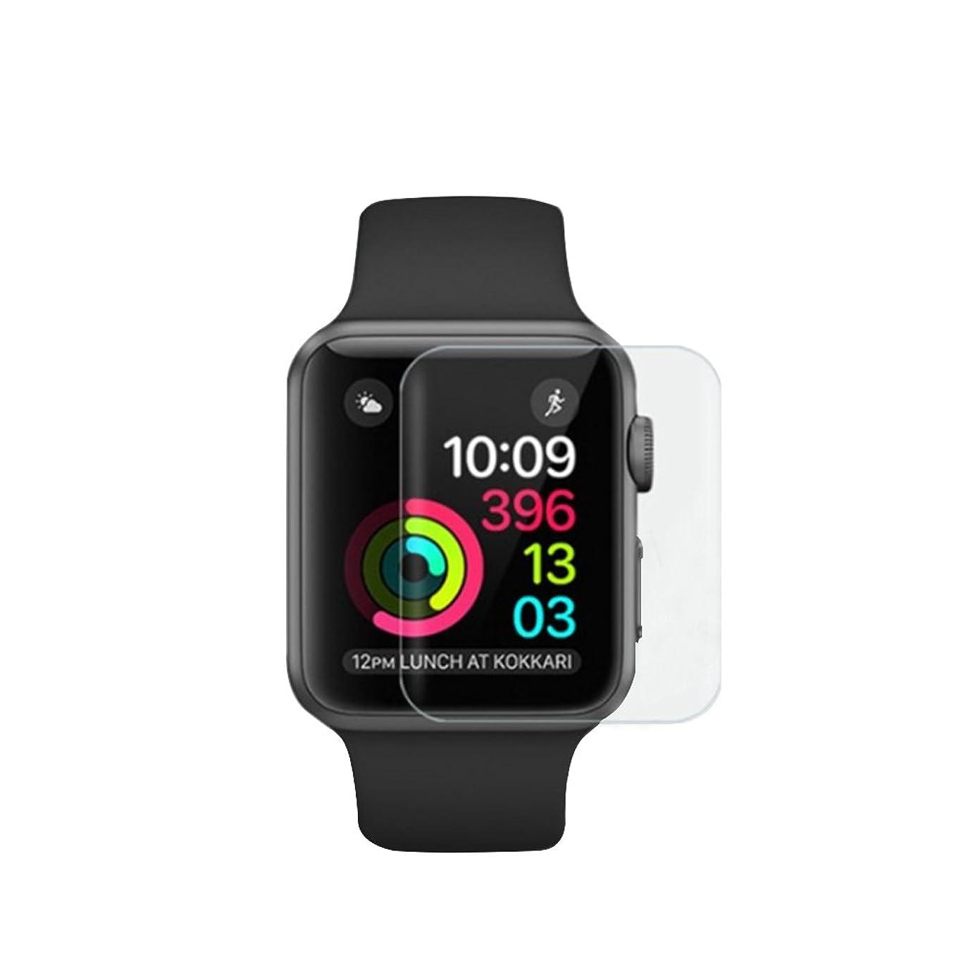 書士楽しいオーバードローJust a mall Apple Watchフィルム 液晶保護フィルム 衝撃吸収フィルム 防指紋 高感度 HD画面対応 42mm