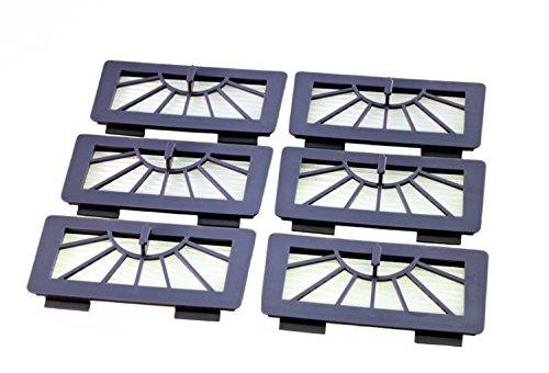 6 HEPA Allergie Filter passend für Neato XV11, XV12 ,XV15, XV21, XV25, XV Signature & Vorwerk VR100