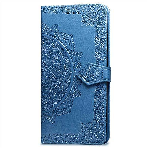 Bravoday Coque pour Samsung Galaxy S7, Protection Étui Housse PU Cuir Portefeuille Bookstyle pour Galaxy S7, avec Carte Slot et Stand Support, Bleu