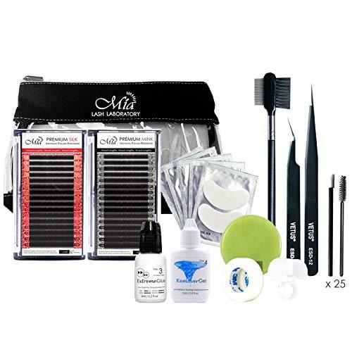 14 in 1 Starter Lash Artist Kit for Beginner Semi Permanent Individual Eyelash Extension Training