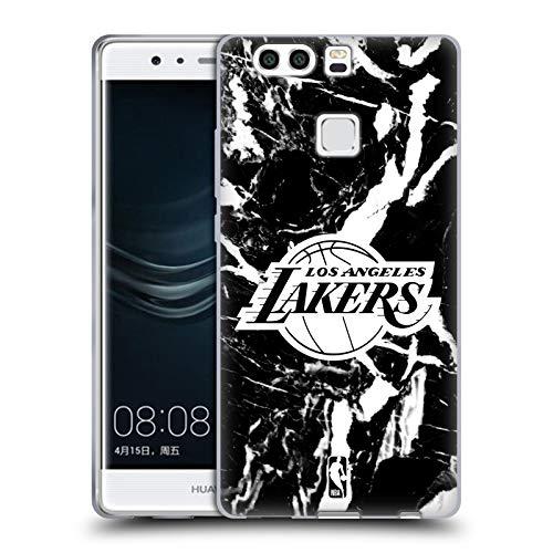 Head Case Designs Ufficiale NBA Marmoreo 2019/20 Los Angeles Lakers Cover in Morbido Gel Compatibile con Huawei P9 Plus
