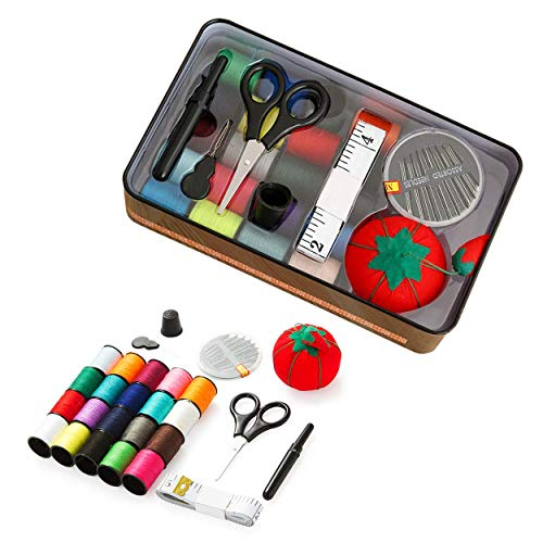 Nanxin Kit de Costura Mini Casa Costura Caja para Viajes a Domicilio y Uso de Emergencia Accesorios de Costura y Bolsa de Transporte