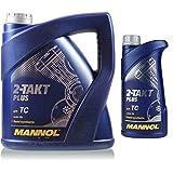 5 Liter MANNOL 2-Takt Plus API TC Öl Motorradöl Scooter MN7204-1 Teilsynthetisch
