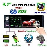 TekHome 2019 NEU 1 DIN Autoradio mit 4.1' Bildschirm und Rückfahrkamera, Auto Radio mit A2DP Bluetooth und USB Schnelle Aufladung, AM/FM/RDS, TF Port, Aux In, SWC Fernbedienung, 7...
