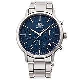 Orient Reloj Cronógrafo para Hombre de Cuarzo con Correa en Acero Inoxidable RA-KV0301L10B