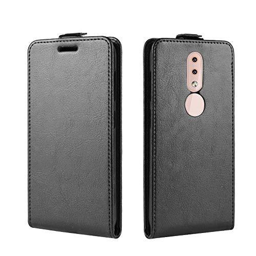 SWMGO® Flip Portafoglio Custodia per Nokia 4.2 (Nero)