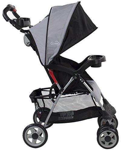 Kolcraft Cloud Plus Lightweight Compact Stroller, Slate Grey