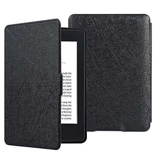 HiveNets Custodia rigida Kindle Paperwhite Premium Silk Cover più sottile e leggera con Auto Wake/Sleep per Amazon 2018 New Generation Nero
