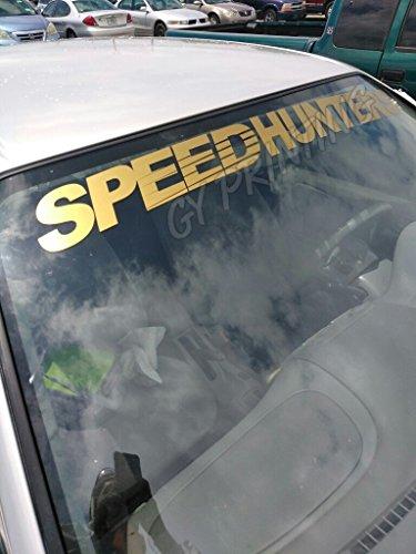 SUPERSTICKI® SPEEDHUNTERS Windshield Aufkleber Decal Hintergrund/Maße in inch s Cars Stickers Banners JDM Graphics Vinyl Die Cut