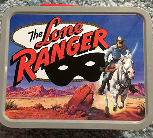 THE LONE RANGER (Mini Commemorative Cheerios Tin Box with Handle), 5 x 4 x 2, a Gift from the CHEERIOS Company, Lone Ranger Copyright (TMKS) of Golden Books Publishing by Cheerios Company, Lone Ranger