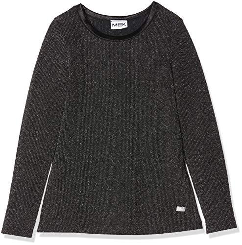 MEK T-Shirt Costina con Lurex Camiseta de Manga Larga, Gris (Grigio Chiaro...