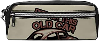 Yishour Old Race Car Pen Pencil Case Stationery Bag Holder for Middle High School Office College Student Girl Women Adult Teen Christmas Gift