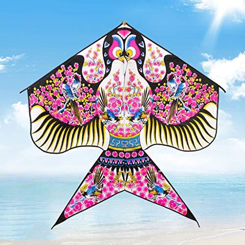 Tradicional China Bird cometas cometa de colores enorme for niños y adultos principiantes de dibujos animados cometa grande con la línea del carrete 300 Medidor de vuelos en línea Breeze vuelo fácil