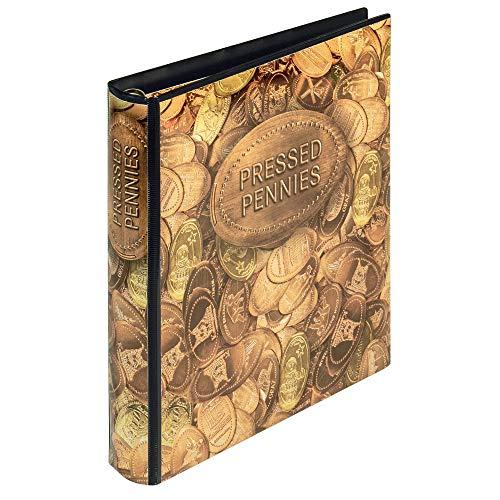 Lindner Karat Sammelalbum für Pressed Pennies inkl.2 Karat-Münzblättern K3 rote oder weiße Zwischenbläatter zur Wahl - Oder assende Münzblätter zur Wahl (1136: Sammelalbum, rote Zwischenblätter)