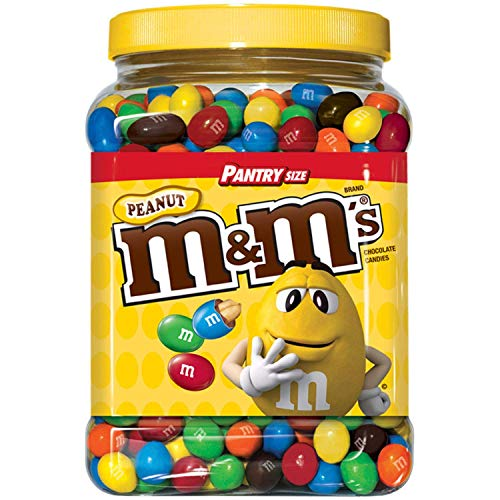 M&M'S Candies, Peanut Chocolate, 62 Ounce Jar, Pack of 1