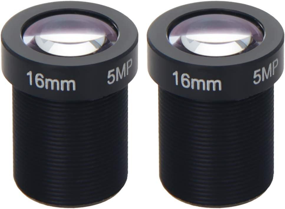Othmro Camera Lens 5MP 16mm F2.0 CCTV M12 Branded goods Manual for Mount Long-awaited