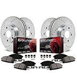 Power Stop K2164 Front and Rear Z23 Carbon Fiber Brake Pads with...