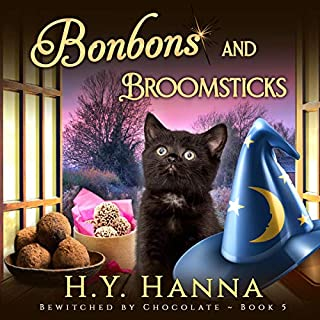 Bonbons and Broomsticks     Bewitched by Chocolate Mysteries, Book 5              By:                                                                                                                                 H.Y. Hanna                               Narrated by:                                                                                                                                 Pearl Hewitt                      Length: 7 hrs and 34 mins     55 ratings     Overall 4.7