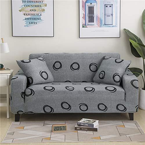 PPMP Funda de sofá elástica Floral Fundas de sofá para Sala de Estar Protector de Muebles de poliéster Fundas Funda de sofá A7 1 Plaza