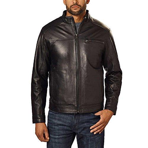 New Men's Black Leather Jacket