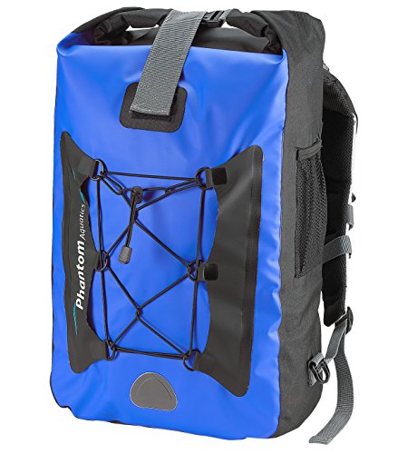 Phantom Aquatics Waterproof Backpack Dry Bag, (25 litres - Black)