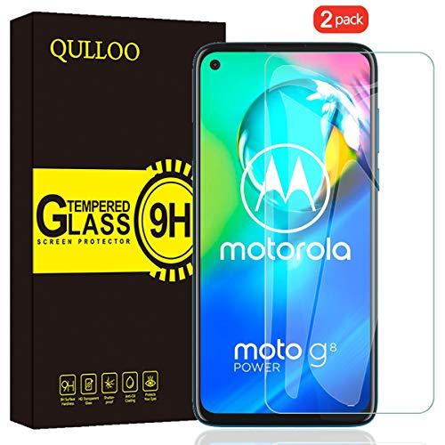 QULLOO Panzerglas für Moto G8 Power, 9H Gehärtetes Schutzfolie Anti-Kratzer Glas Folie Bildschirmschutzfolie für Motorola G8 Power - [2 Stück]