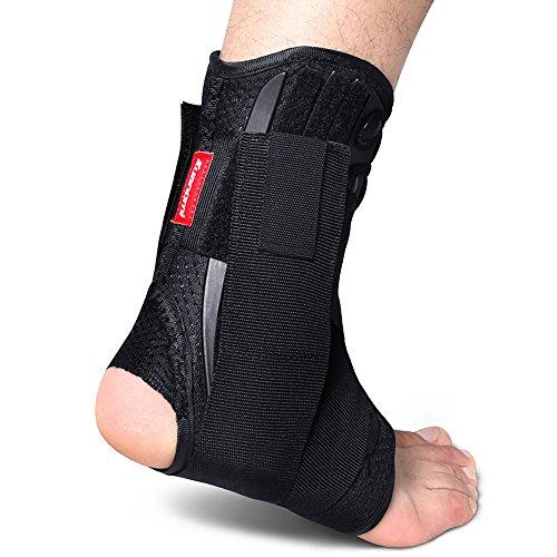 Kuangmi cavigliera, con lacci, stabilizzatori laterali e cinghia di fissaggio ausiliare a croce Forza e protezione, 1 pezzo.S