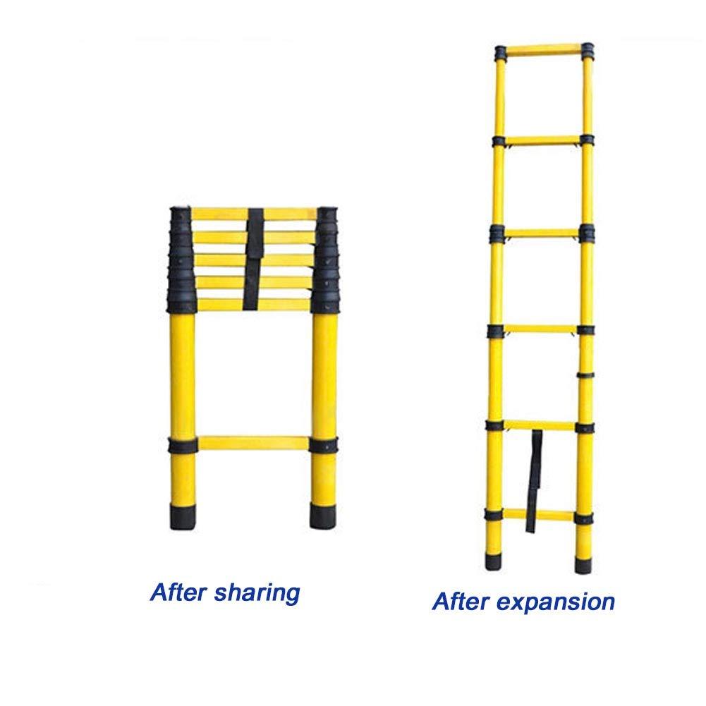 Escalera telescópica de aluminio antideslizante, escalera plegable multifunción, altura regulable, antideslizante, de goma, con 3 m, 150 kg de capacidad de carga: Amazon.es: Bricolaje y herramientas