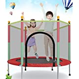 Leic Trampoline Indoor and Outdoor Spotrs with Safety Enclosure Net Handle Mini Trampolines