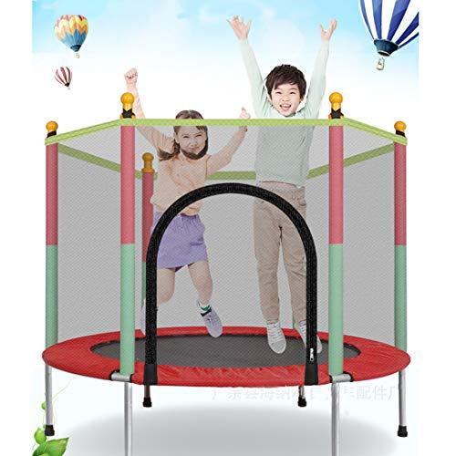 Leic Trampolín Deportes de Interior y al Aire Libre con Caja de Seguridad Asa de Red Mini Trampolines para niños