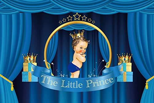 Fondo de fotografía de Princesa Rosa Corona Dorada Cartel de Fiesta de Feliz cumpleaños Retrato Foto de Fondo Estudio fotográfico A30 5x3ft / 1,5x1m