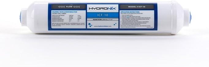 "Hydronix ICF-10 Inline Coconut Filter 2000 Gal, 2"" OD X 1 0"" Length, 1/4"" FNPT"