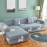 Funda de sofá elástica seccional elástica para sofá de Sala de Estar Funda de sofá en Forma de L Funda de sillón A23 de 4 plazas