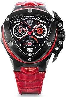 Lamborghini Red Leather Black dial Chronograph for Men [3018]