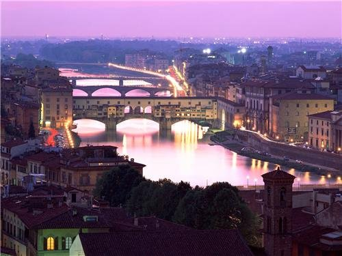PONTE VECCHIO GLOSSY POSTER PICTURE PHOTO florence italy arno river bridge