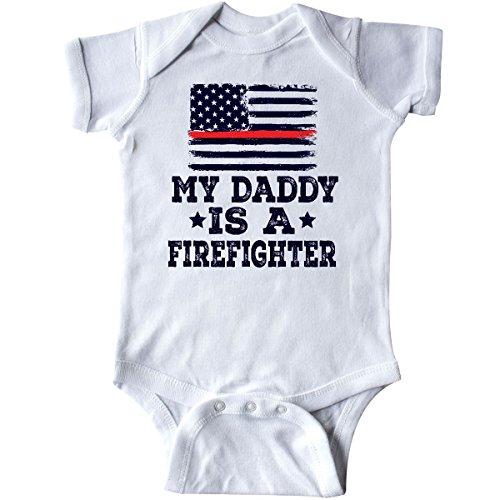 inktastic Fireman Daddy is a Firefighter Infant Creeper Newborn White 2ec6d