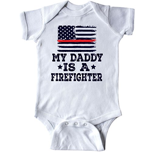 inktastic Fireman Daddy is a Firefighter Infant Creeper Newborn White 2ec6d