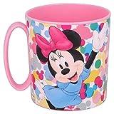Tazza Disney Minnie Mouse Bicchiere in plastica 350ml per Microonde con manico Bambini colazione (Minnie)