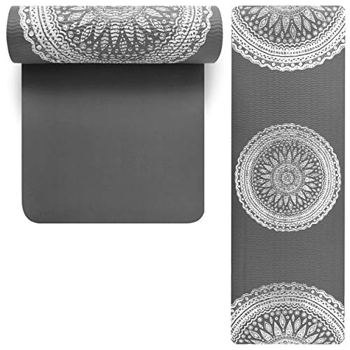 Lions 15mm Thick NBR Exercise Mats with Carry Straps,...