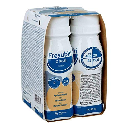 Fresenius Kabi Fresubin 2 kcal Drink Aprikose Pfirsich Trinkflasche, 4 x 200 ml, 1er Pack (1 x 2,75 kg)