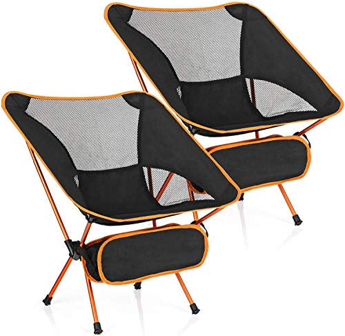 MH Zone 2 Pack Camping Chairs Backpacking Chair Portable Compact Ultralight Outdoor Folding Hiking...