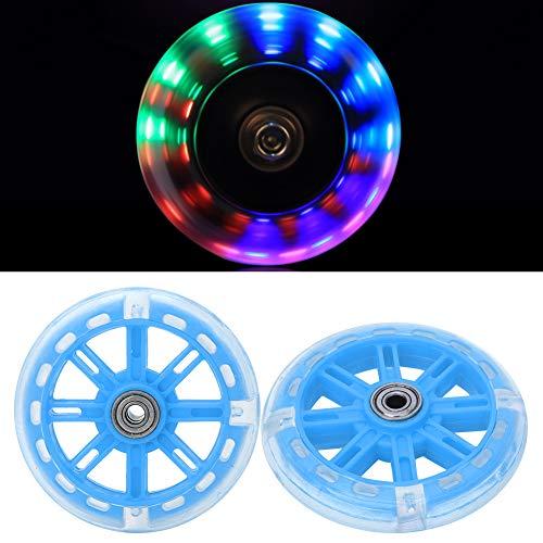 Alomejor Kinderfahrrad Stützräder LED Leuchten Fahrradstabilisatoren Stützräder Ersatz für 12-20 Zoll Kinderfahrrad(Blau) - 2