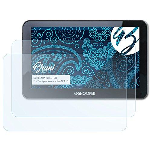 Bruni Schutzfolie kompatibel mit Snooper Ventura Pro S6810 Folie, glasklare Displayschutzfolie (2X)