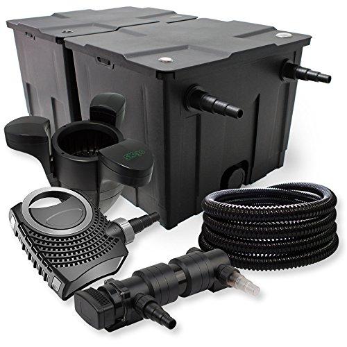 SunSun Kit de Filtration de Bassin 60000l 18W UV Stérilisateur NEO7000 50W Pompe Tuyau et Skimmer