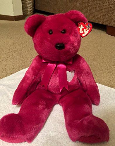TY Beanie Buddy VALENTINA Bear Valentine Day Heart Teddy 14'