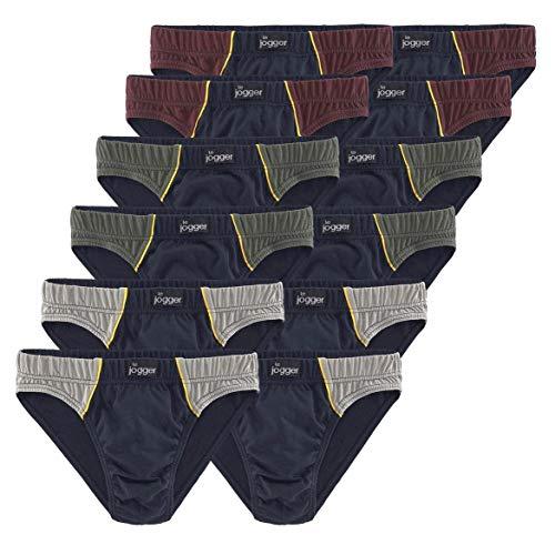 Le Jogger Herren Slips, marine, reine Baumwolle, 12er Pack (5)