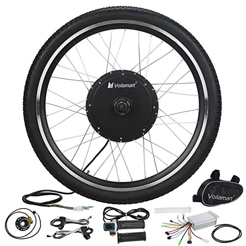 "Voilamart E-Bike Conversion Kit 26"" Front Wheel 36V 500W Electric Bicycle Conversion Motor Kit with Intelligent Controller and PAS System for Road Bike"