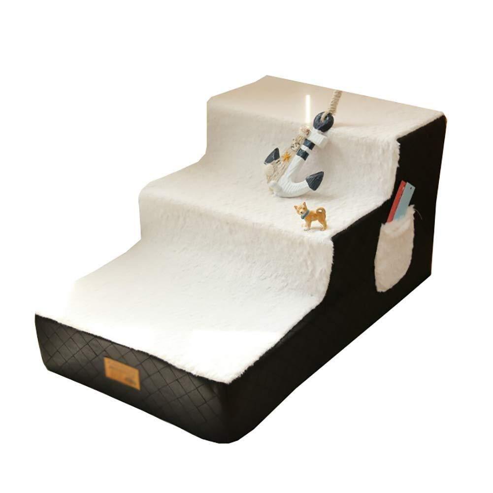 Viñedo Escalera para Perros pequeños Escalera para Mascotas de 3 peldaños Pasos medianos para Camas Altas y sofás Altos, Carga máxima: 15 kg: Amazon.es: Hogar